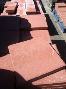 16x16 Inch Red Concrete Masonry Unit