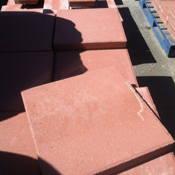 16x16 Inch Red Concrete Masonry Unit