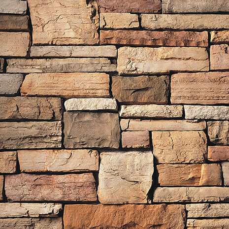 Caramel Country Ledgestone Manufactured Stone Veneer
