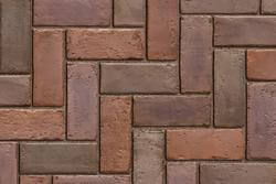 Town Hall Burgundy Red Burnt Clay Old Oak Mix Paver
