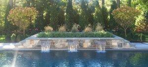poolside fountain