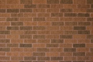 brick wall in a running bond pattern