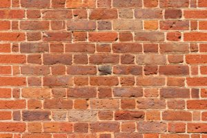 brick wall in flemish bond pattern