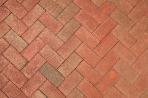 brick wall in herringbone pattern