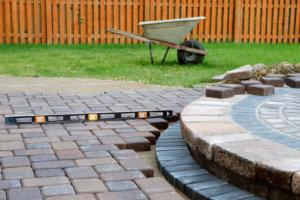 building stone patio